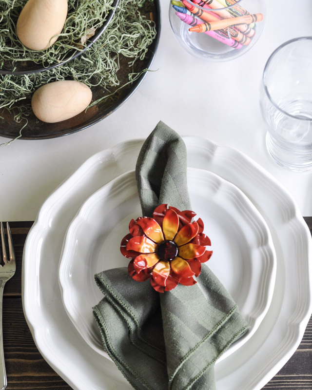 Spring Dinner Party Ideas Part - 33: Kidsu0027 Spring Table Setting-1