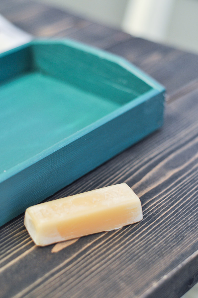 800 - Weathered Tray with Beeswax Reliefing -2