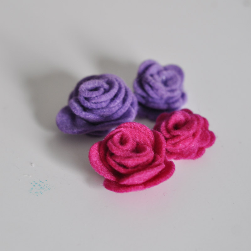 Felt Rose Corsage Cuff-3