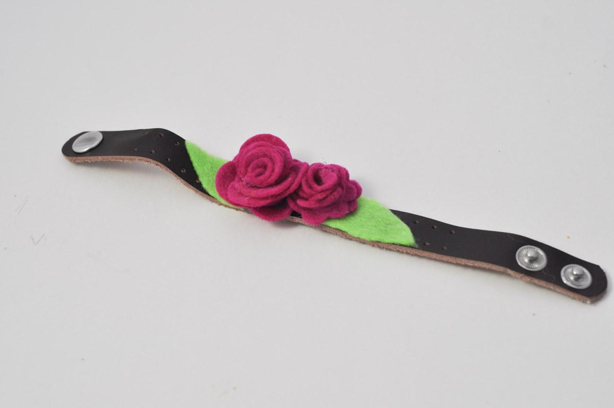Felt Rose Corsage Cuff-6
