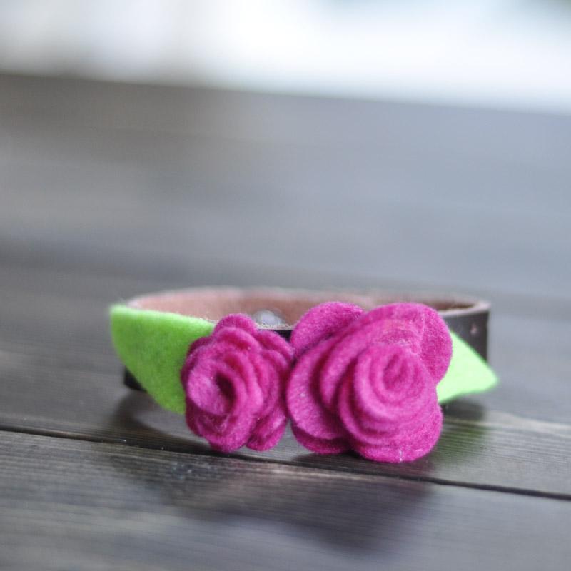 Felt Rose Corsage Cuff-8