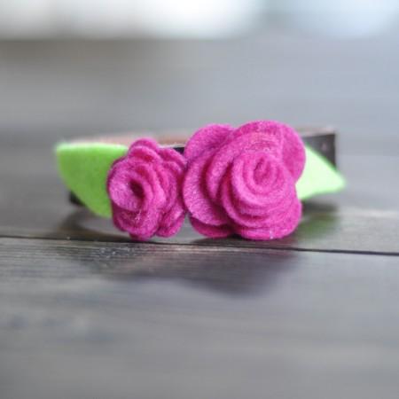 Felt Rose Corsage Cuff-9