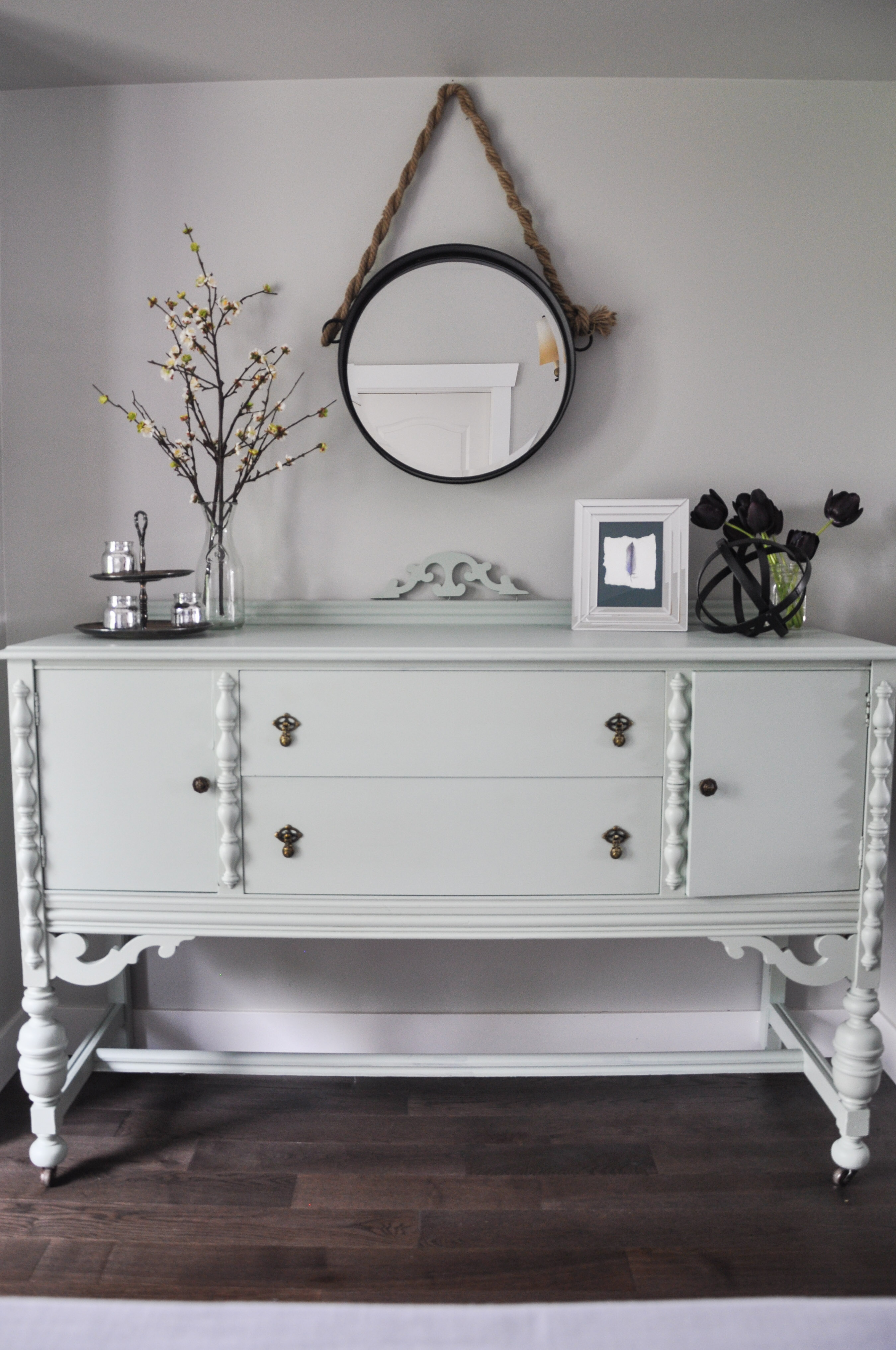 Painted buffet table furniture - Painted Dining Room Buffet In Fusion Inglenook2 Table