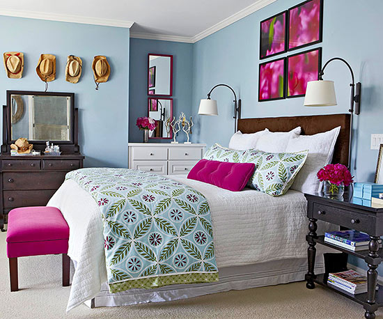 BHG pink and blue room