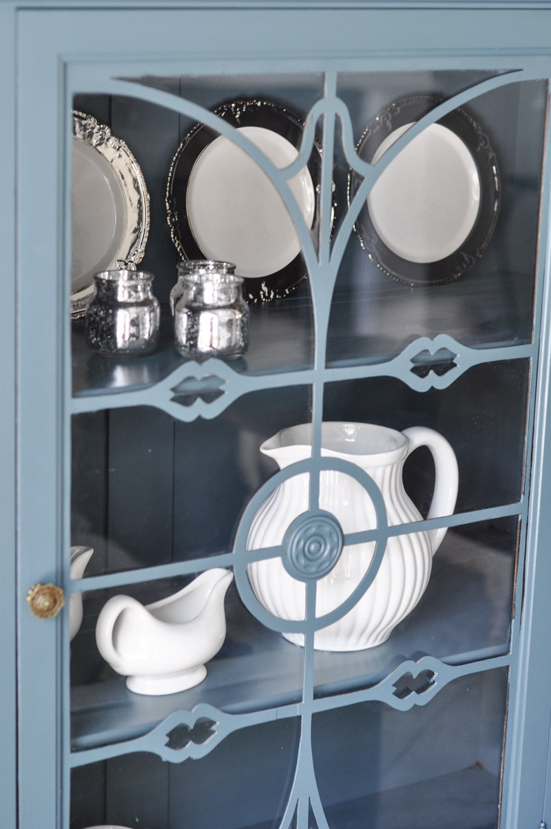 China Cabinet with Fusion Homestead Blue-1-3
