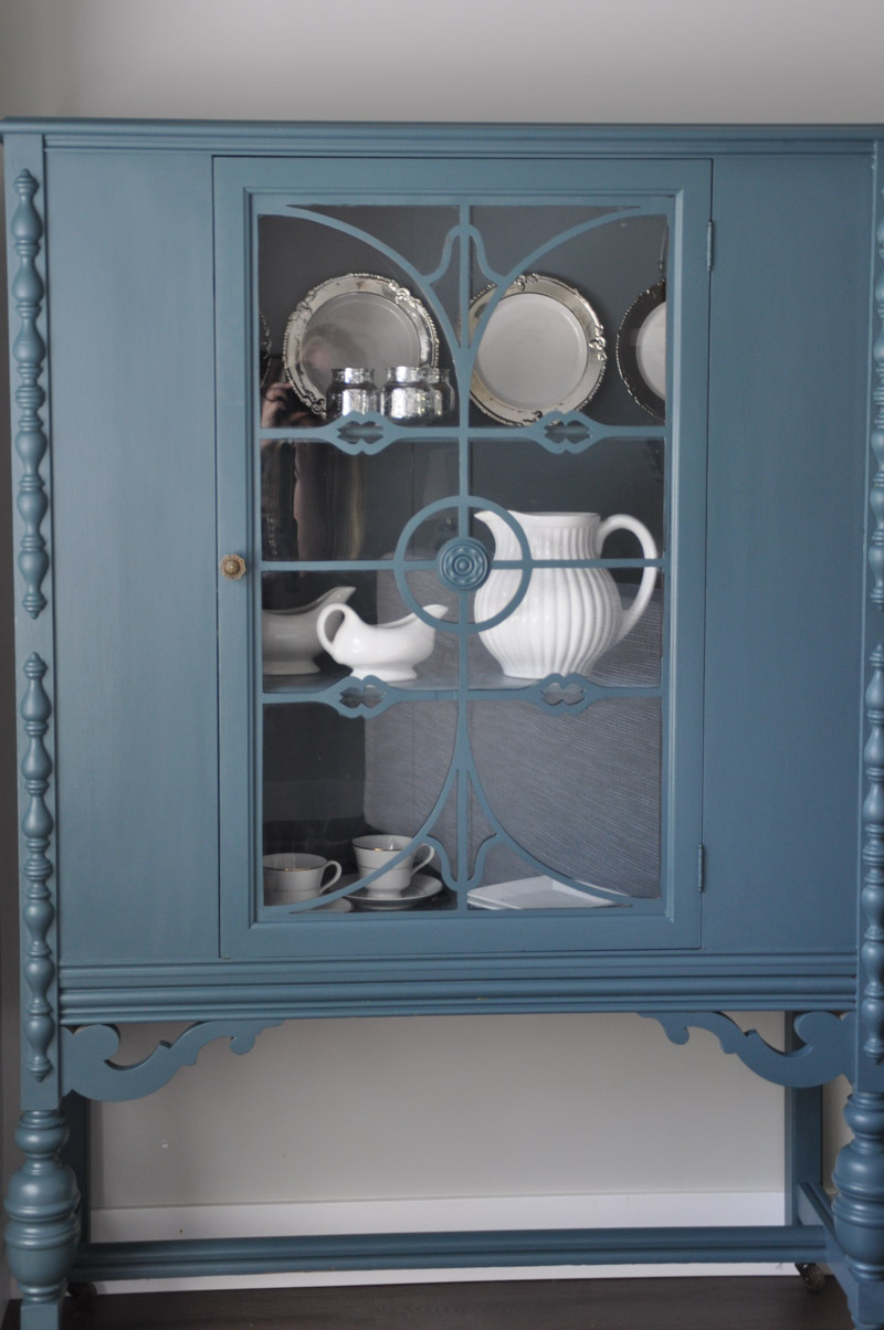 China Cabinet with Fusion Homestead Blue-1