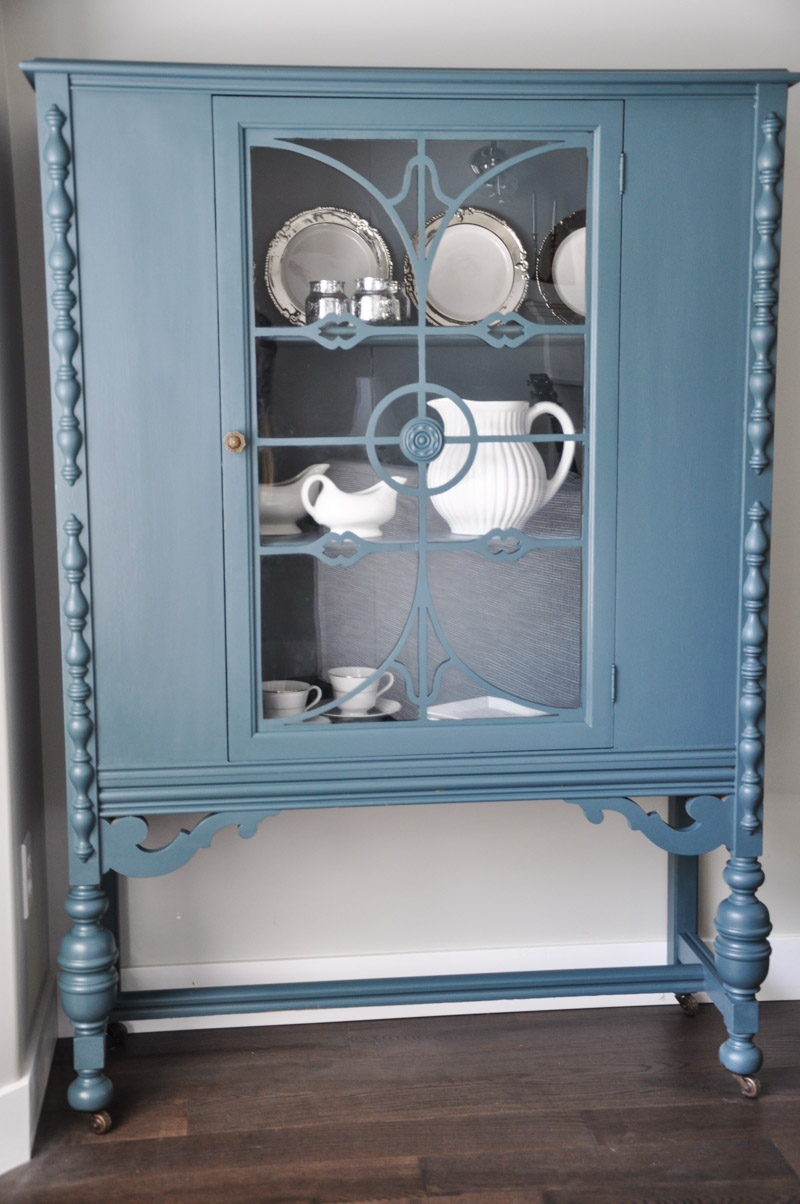 China Cabinet with Fusion Homestead Blue-5