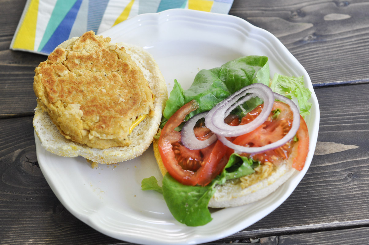 Madras Curry Chickpea Burger-3