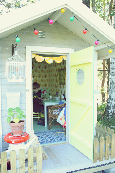 Playhouse with Wallpaper
