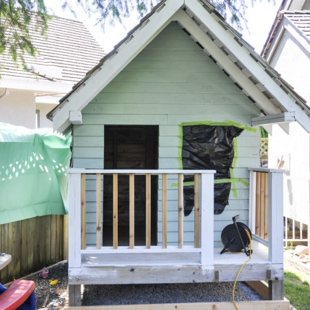 The Playhouse Project - The Porch and Painting-12
