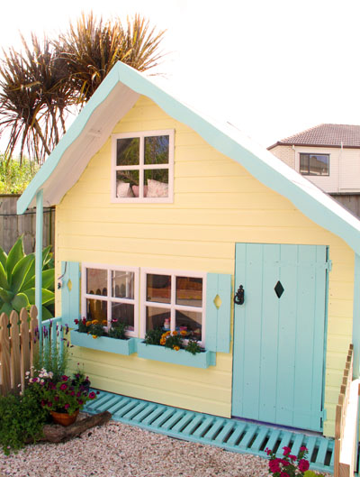 Yellow and Blue playhouse