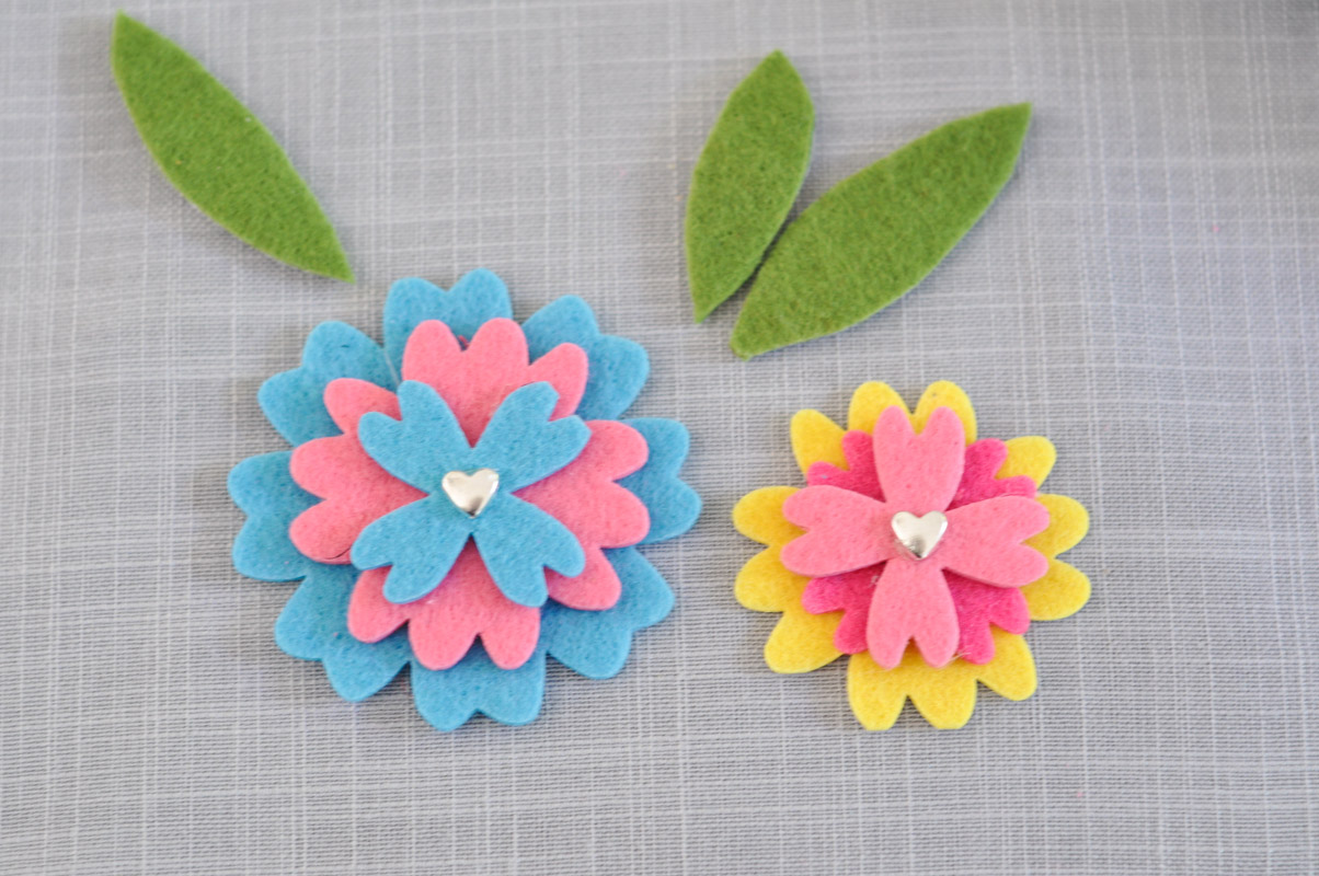 Felt Flower Headband Tutorial-7