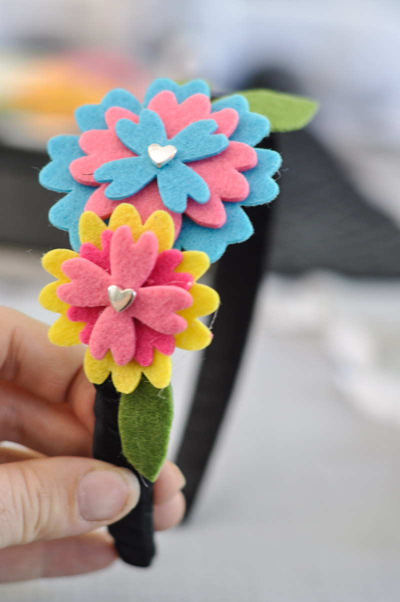 Felt Flower Headband Tutorial-8