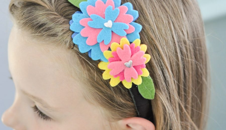 Felt Flower Headbands – Made by the Kidlets!