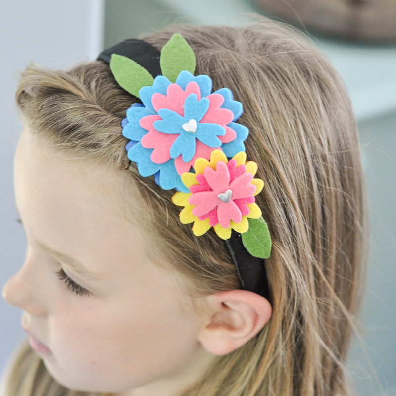 Felt Flower Headband Tutorial sq-12