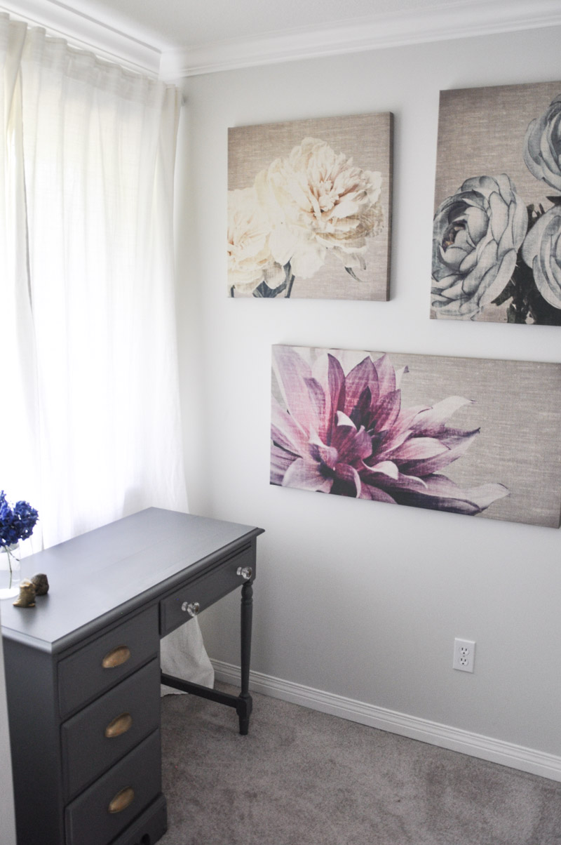 Graham and Brown Floral Canvases in The Master Bedroom -1-3