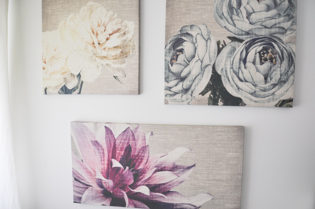 Graham and Brown Floral Canvases in The Master Bedroom -1-4