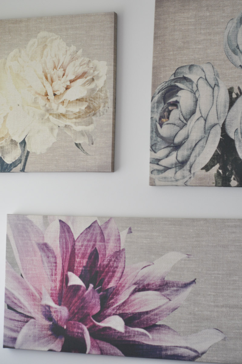 Graham and Brown Floral Canvases in The Master Bedroom -2