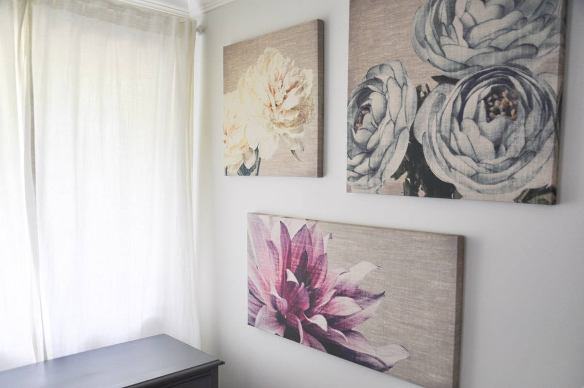 Graham and Brown Floral Canvases in The Master Bedroom -4