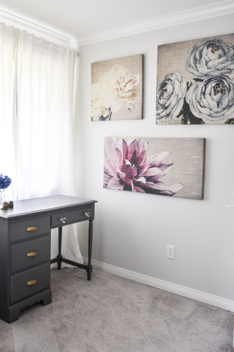 Graham and Brown Floral Canvases in The Master Bedroom -7-2