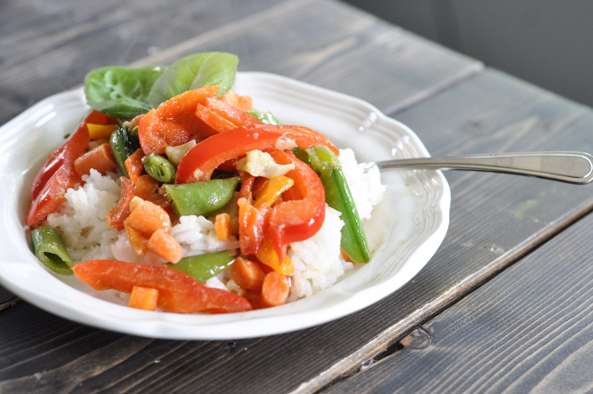 Green Chili Thai Stir Fry With What's In The Crisper-5