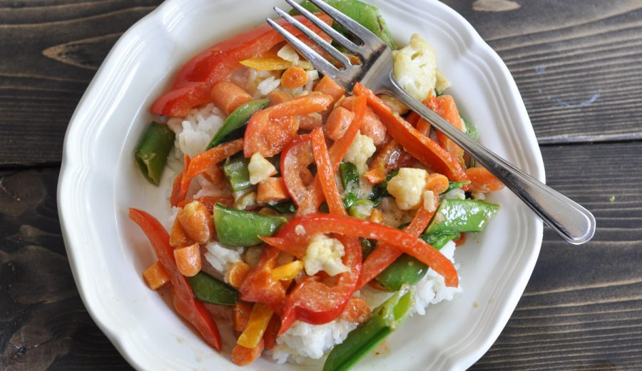 Easy Thai Green Curry Stir Fry – Use Up What's In The Fridge