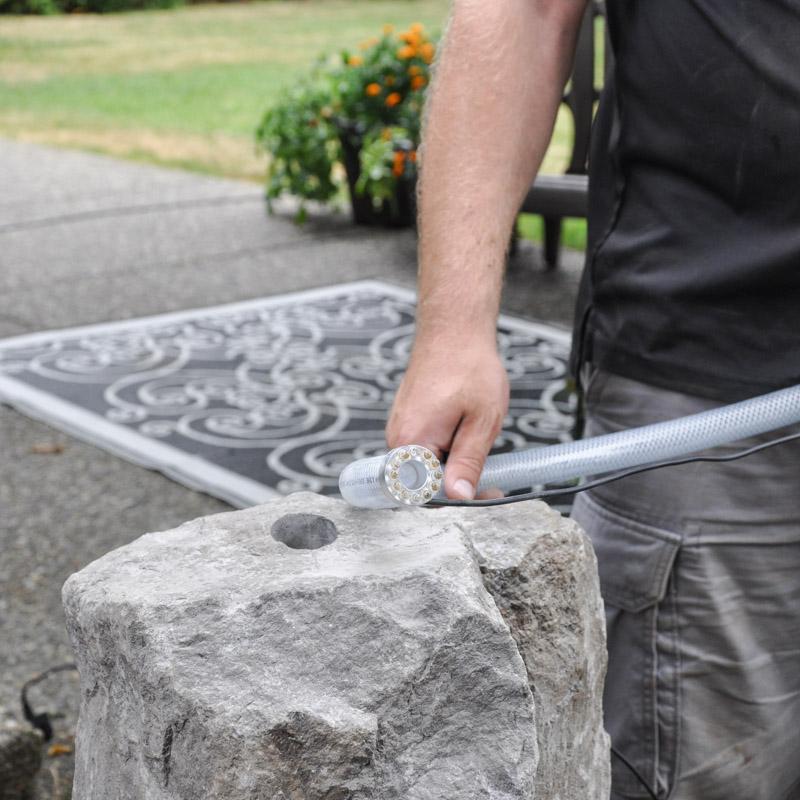 Installing Basalt Gurgler Water Feature Tutorial -7