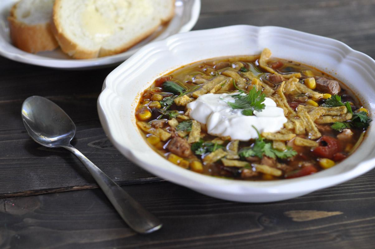 Slow Cooker Chicken Tortilla Soup-4