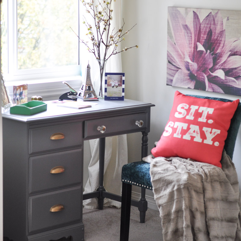 A Painted Writing Desk in the Master Bedroom-1-3