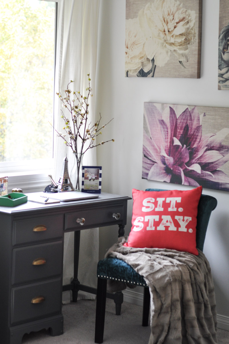 A Painted Writing Desk in the Master Bedroom-14