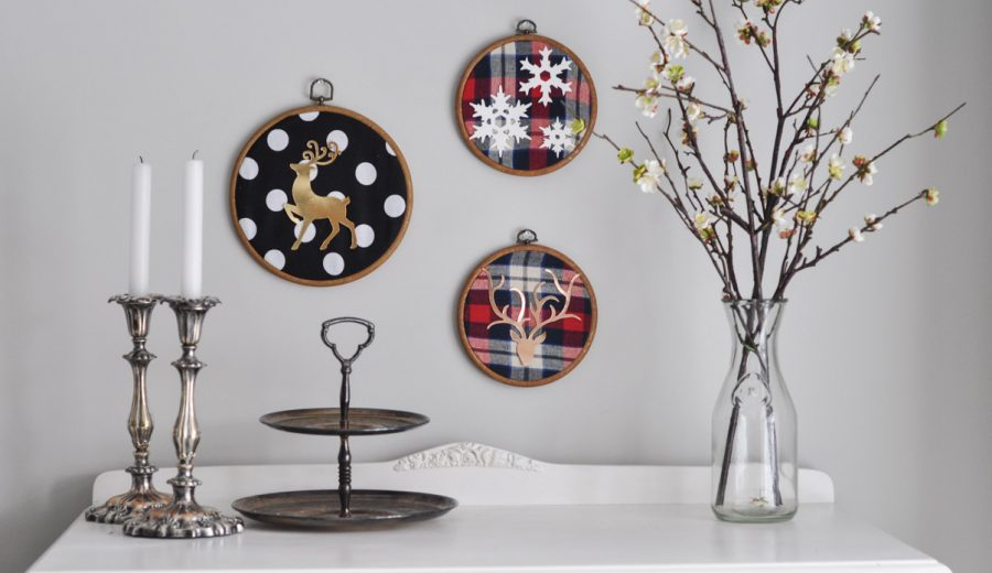 Christmas Embroidery Hoop Art with the Sizzix Big Shot
