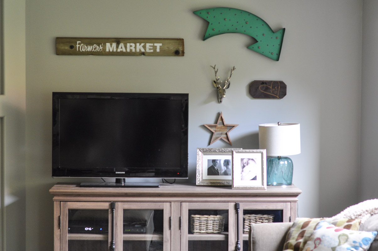 Family Room Gallery Wall with Wayfair -2