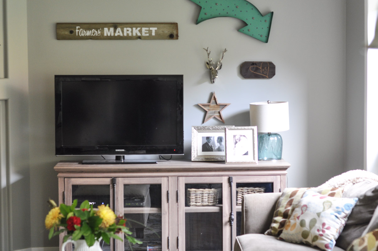 Family Room Gallery Wall with Wayfair -3