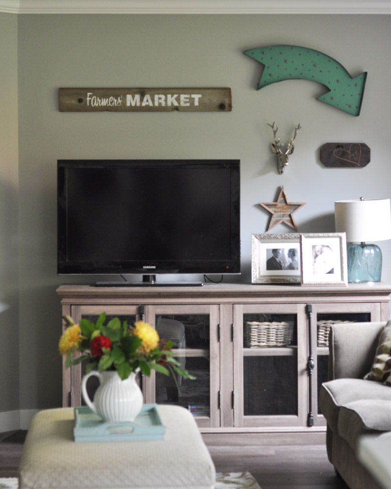 Family Room Gallery Wall with Wayfair -4