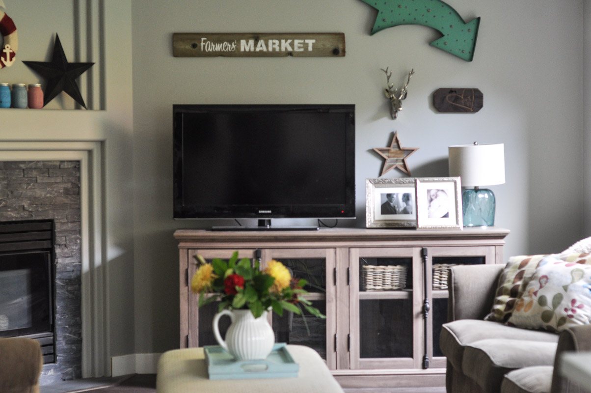 Family Room Gallery Wall with Wayfair -5