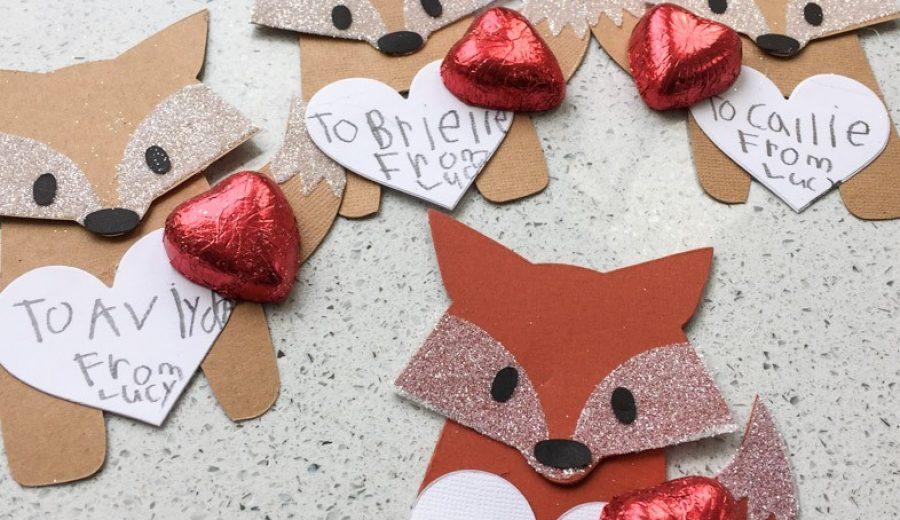 Glittery Fox Valentines