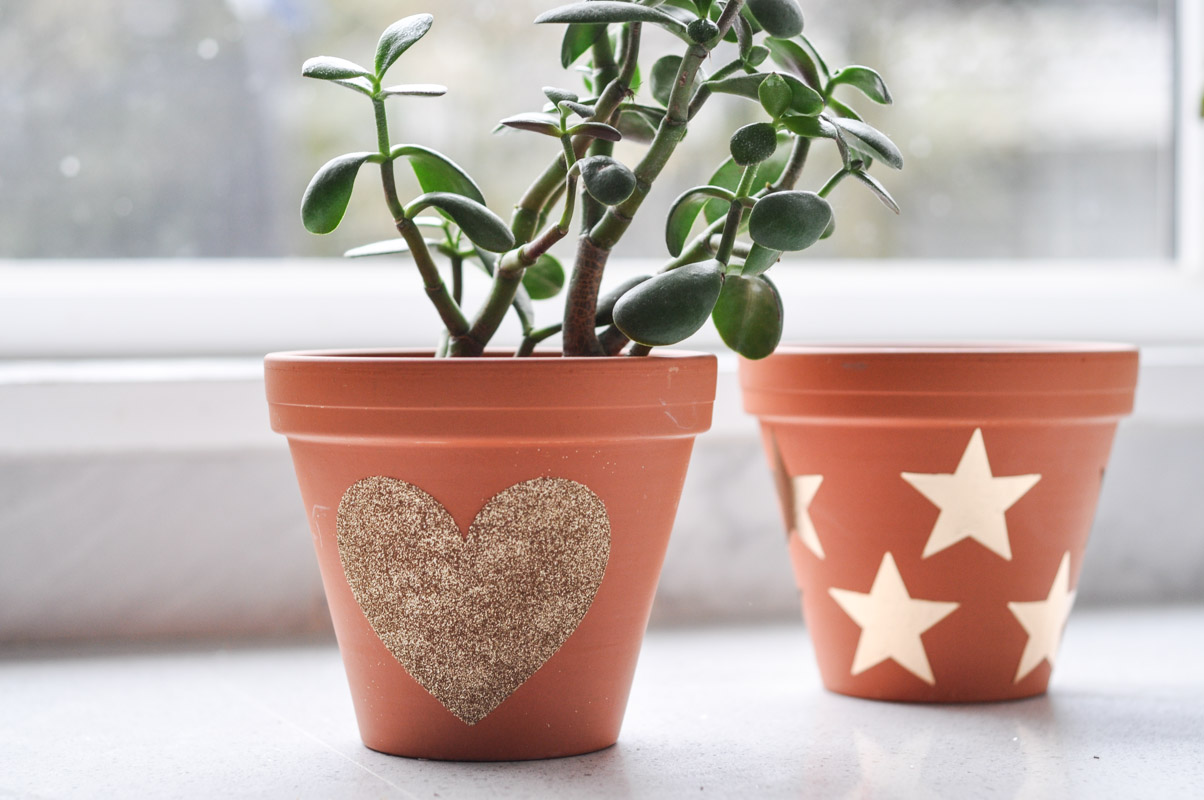 Gold Vinyl on Terracotta Plant Pots-10