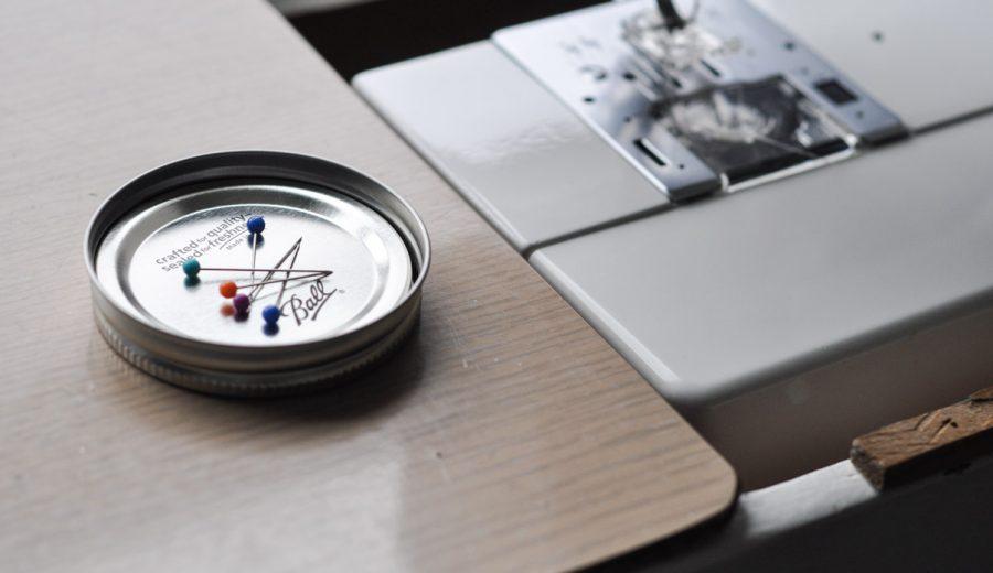 Mason Jar Magnetic Pin Holder