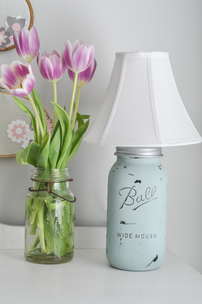 Shabby Chic Mason Jar Lamp-10