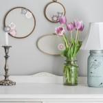 Shabby Chic Mason Jar Lamp