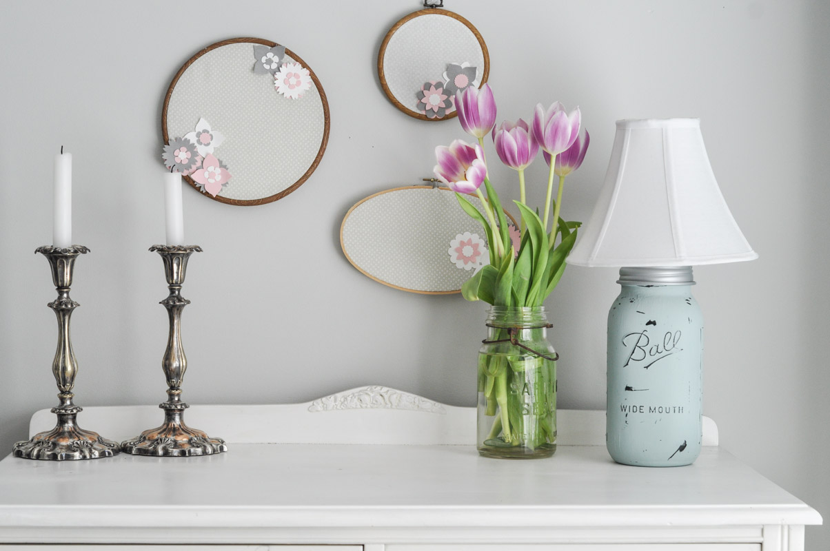 Shabby Chic Mason Jar Lamp-8