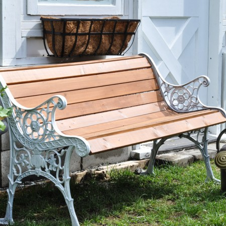 Refinishing A Park Bench-3
