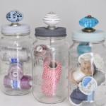 Easy Upcycled Mason Jar Storage
