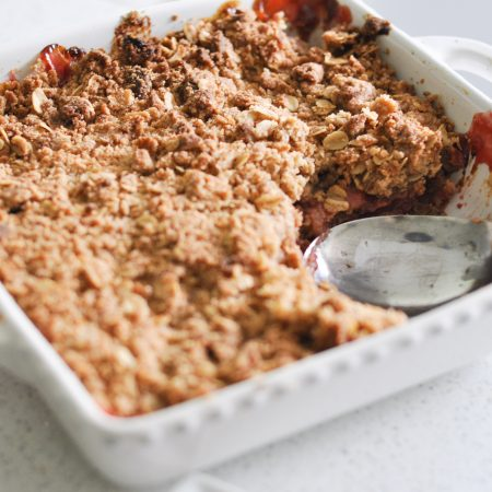 Rhubarb Strawberry Crumble Recipe-4