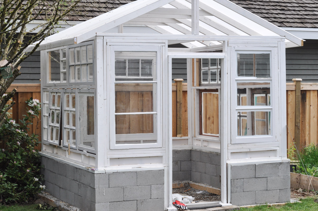 The greenhouse project windows and staining suburble for Garden window plans