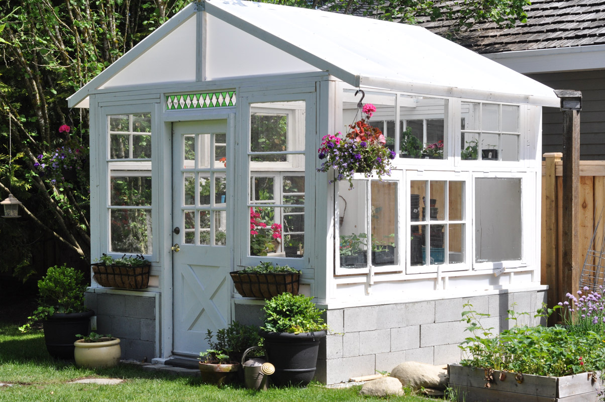 The Greenhouse Project- How To Build A Greenhouse From Vintage Windows-12