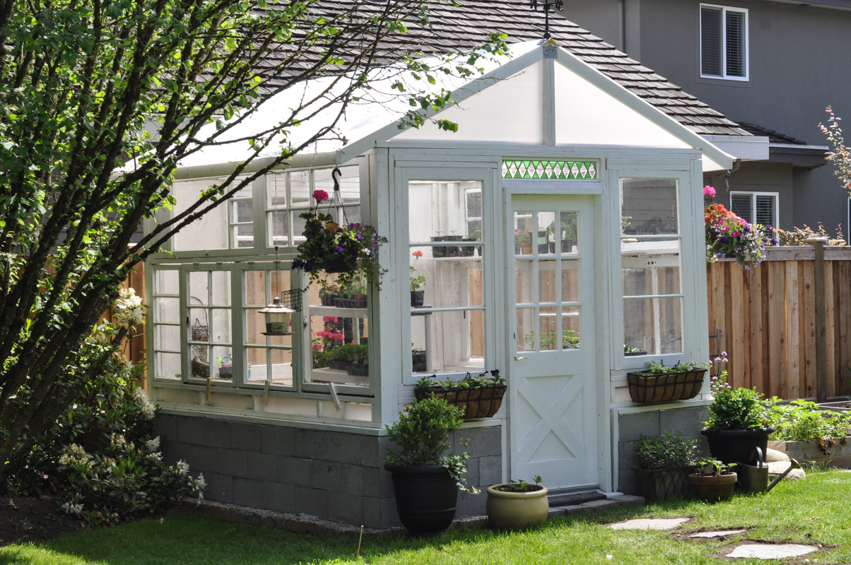 The Greenhouse Project- How To Build A Greenhouse From Vintage Windows-6