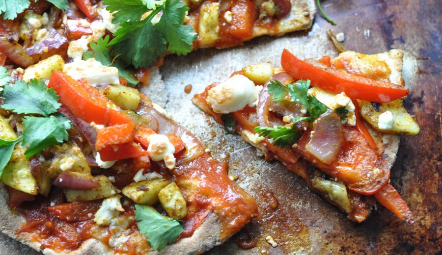 Curried Vegetable Flatbread Pizza