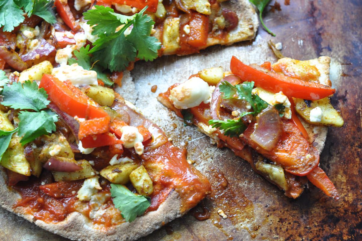 Curried Vegetarian Flatbread Pizza-6