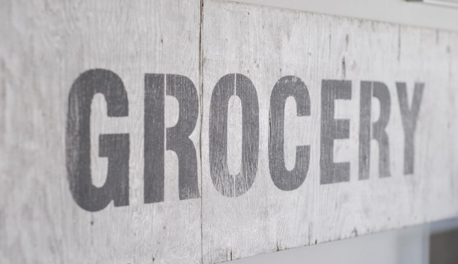 The Vintage Grocery Sign